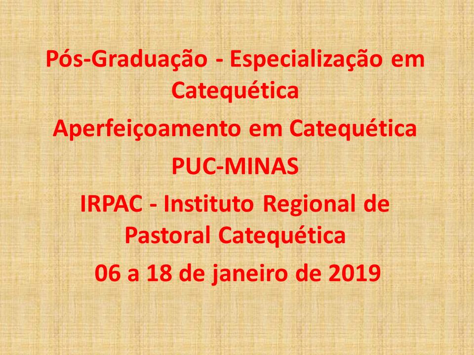 Regional Leste II promove curso do IRPAC e formação de novos coordenadores paroquiais