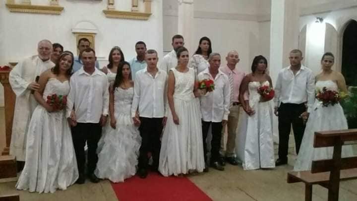 Casamento Coletivo na Paróquia São Pedro, em São Pedro do Suaçuí