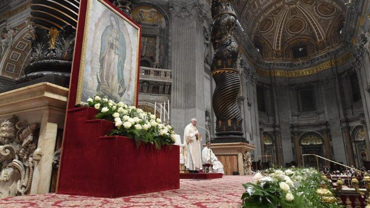 Papa Francisco na Festa de Guadalupe: Maria é mãe e é mestiça