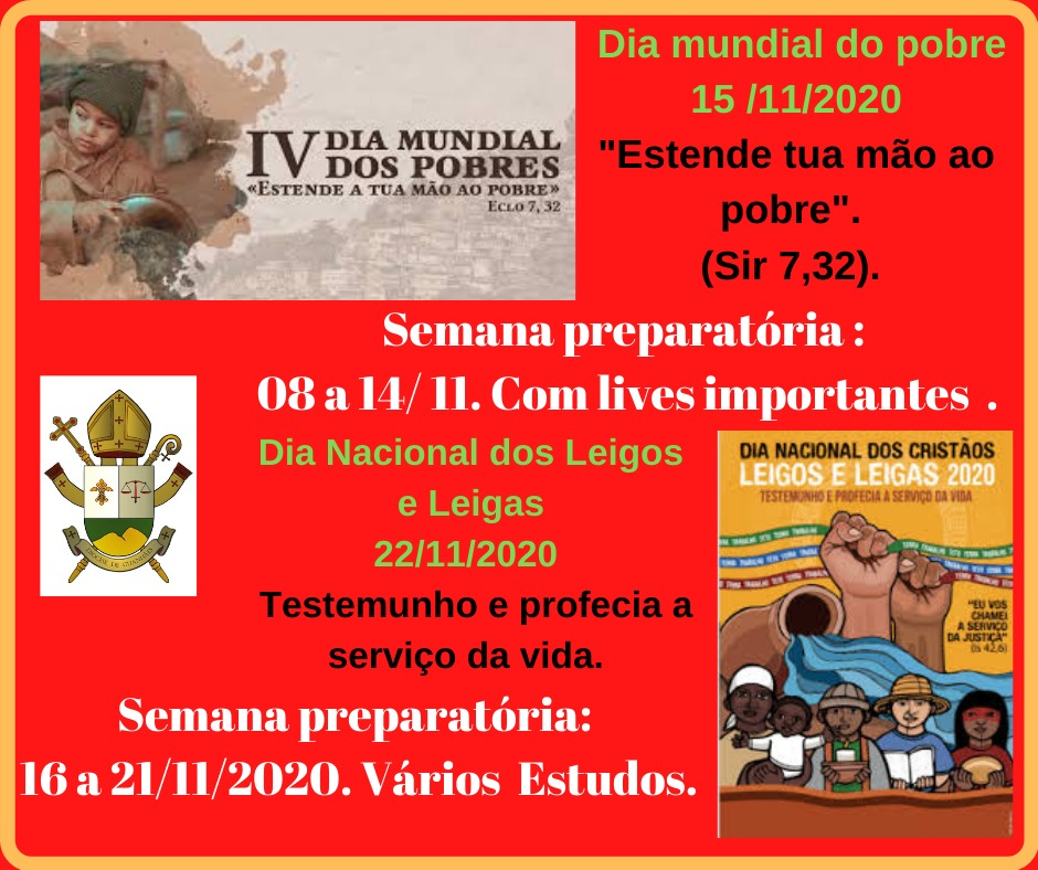 Dia Mundial do Pobre e Dia Nacional dos leigos e leigas