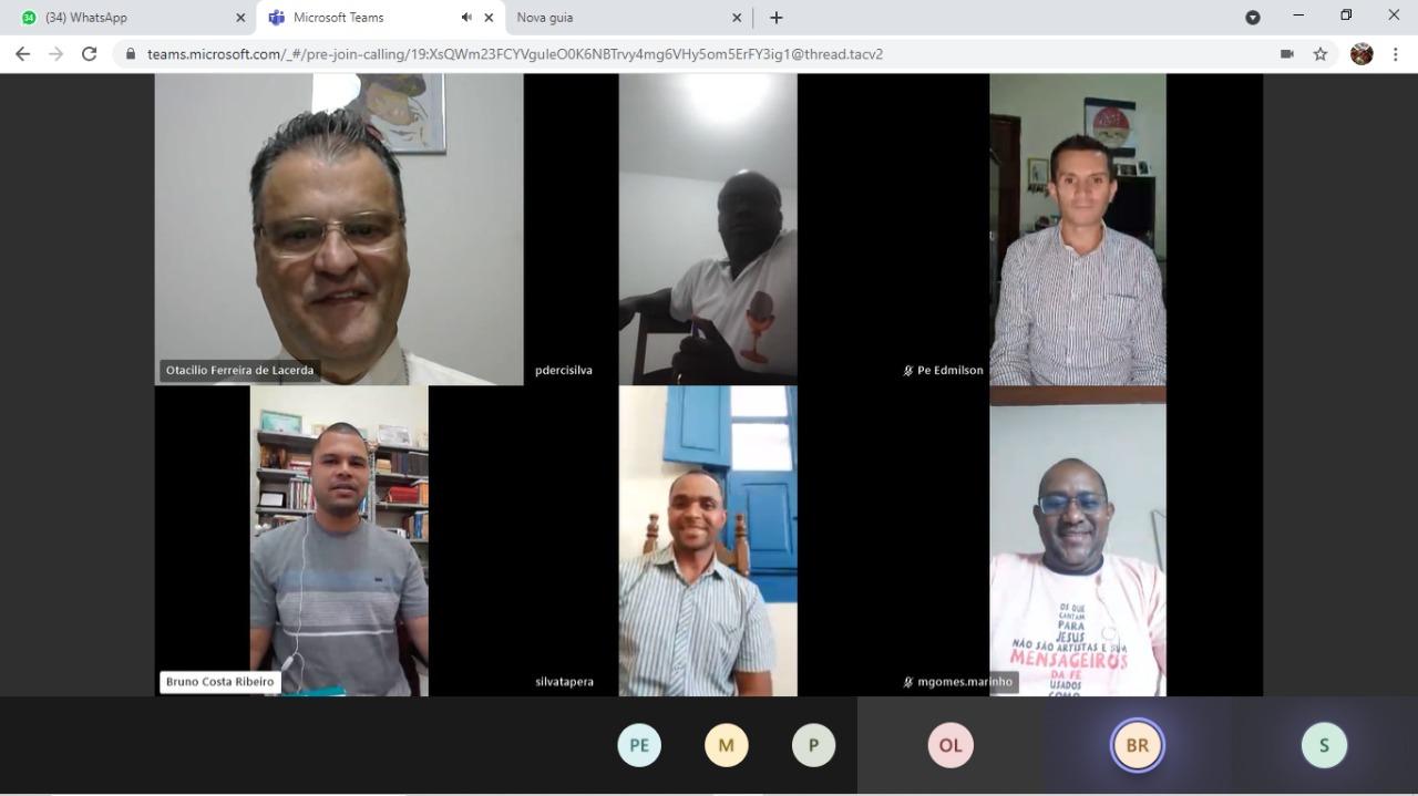 Primeira Reunião virtual da Pastoral Presbiteral